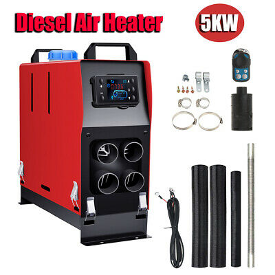 12V 5000W Diesel Air Night fuel Heater LCD Remote Fr Car Truck House Home Hot UK