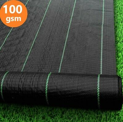 Heavy Duty Weed Control Fabric Landscape Ground Cover Membrane 2m, 3m, 4m Widths