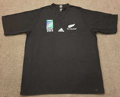 New Zealand All Blacks 2003 Rugby World Cup RWC Home Shirt Jersey Adidas XL