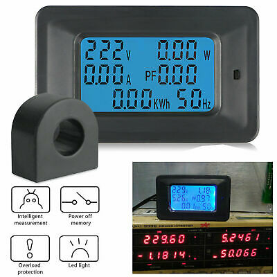 New 100A,AC,LCD Digital Volt Power Voltage Meter Monitor KWh Voltmeter Ammeter !