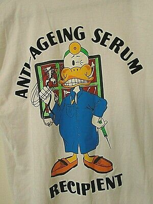 vintage Fruit Of Loom Mens Anti - Aging t - shirt White size L