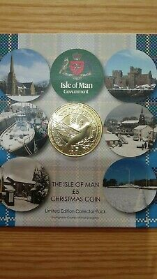 2017 Isle Of Man Christmas 5 Pound Coin Bunc