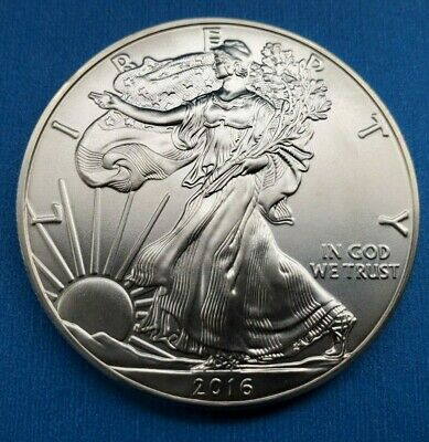 2016 Liberty Walking American Silver Eagle Dollar Coin. Excellent Condition