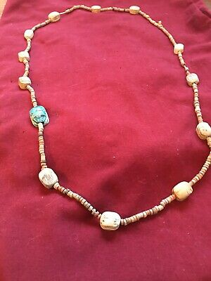 Ancient Pharaonic Mummy Beads With Faience Scarab.13 Scarab Beads Total