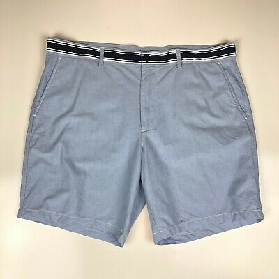 """Vintage Men's Lacoste Shorts Blue Cotton 8"""" Inseam Size 38 Made in France"""
