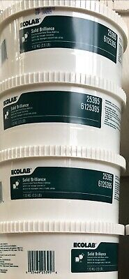 New! Carton of Two Ecolab #6125395 Concentrated Solid Brilliance Rinse Additive