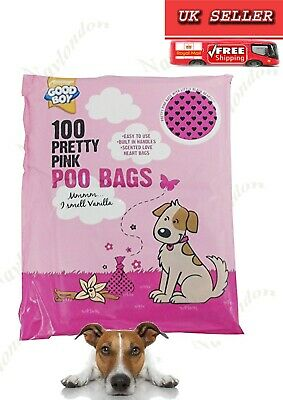 Good Boy  Pretty Pink Poo Bag 100  Vanilla Scented Easy To Use Built In Handles