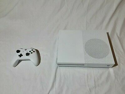 Xbox One S 1TB White Console with controller Microsoft used with 17 games
