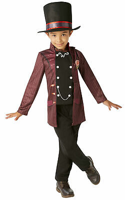 Kids Willy Wonka Costume Charlie And The Chocolate Factory Fancy Dress Age 3-6