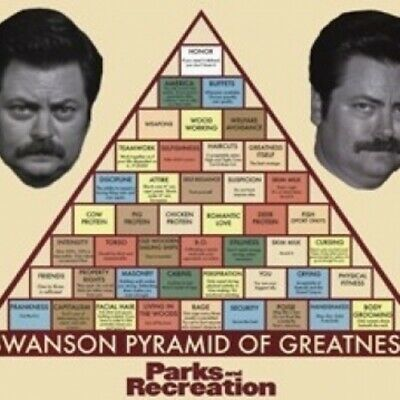 Parks & Rec - Pyramid of Greatness Poster Print (36 x 24)