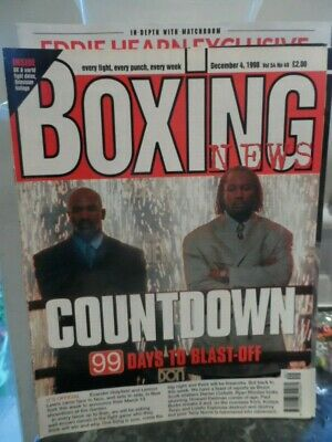 BOXING NEWS 'HOLYFIELD v LEWIS', In Great condition, Bargain Price, L@@K!