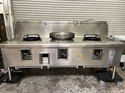 Triple Hole WOK Gas Range 3 Burner Station Allstrong ARE-3 Chinese Grill #4790