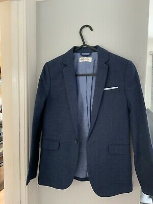 H&M Age 9-10 Years Navy Blue Formal Boys Suit Jacket