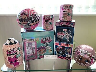 Lol Surprise Doll Glam Glitter ,ARCADE HERO Lils, PETS, Furniture GLITTER Bundle