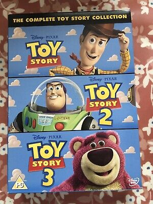 Toy Story 1-3 DVD (2010) Complete Collection 3 DVDs PG Disney Pixar Kids