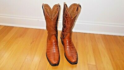 LUCCHESE  CLASSIC ULTRA BELLY CAIMAN BOOTS Men's 9.5 D
