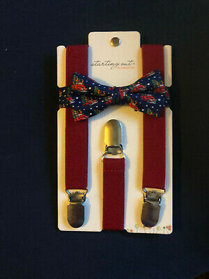 Toddler Boy Suspender and Bow Tie Set
