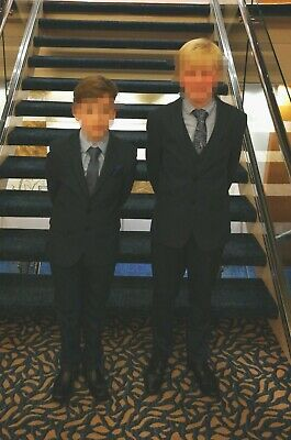 Boys Next Suit Age 11 5-piece With Shirt & Tie navy blue