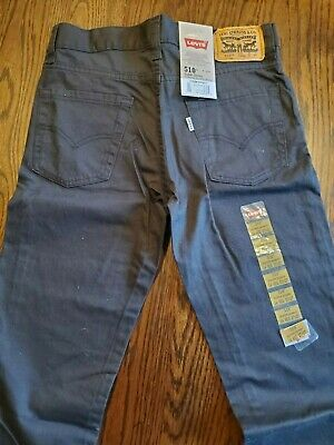 NWT - Levis 510 Boys Forest Green Super Skinny Regular 27x27 Slim Fit Jeans NEW
