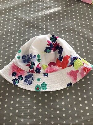 Girls Joules Reversible Sun Hat Age 1-2