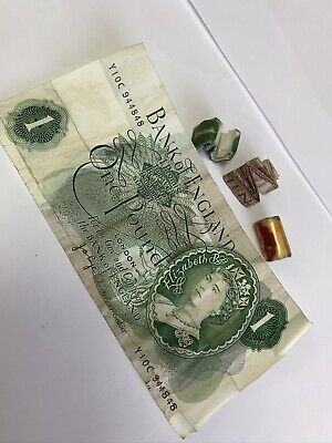 4 X Old British Notes From Old Charms - £1 Notes, 10 Shilling Notes
