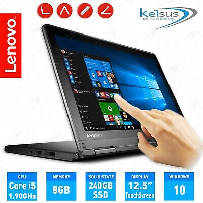 "Lenovo Yoga S1 12.5"" IPS Touch Laptop Core i5-4300U 8GB RAM 240GB SSD Webcam"