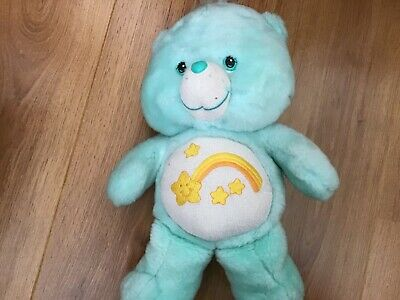 "CARE BEARS plush WISH BEAR 12"" soft toy cuddly American greetings VGC"