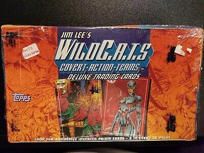 Jim Lee's WILDCATS Topps 1993 Trading Cards FOR TWO Factory Sealed Box's