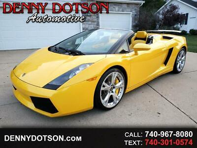 2008 Lamborghini Gallardo 2dr Conv Spyder 2008 Lamborghini Gallardo Spyder Only 8K Miles Tons Of Options Clean History!