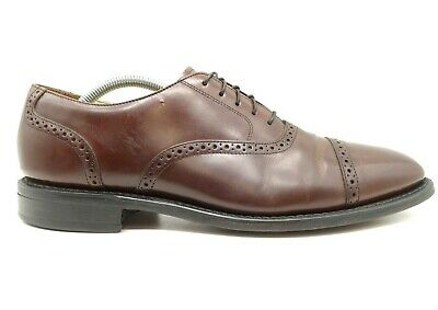 Bostonian Impression USA Brown Leather Cap Toe Lace Up Oxfords Shoes Mens 10.5 D