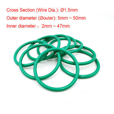 2.4mm Cross Section Green Fluorine Rubber O-Ring Seals Gasket Oil Sealing Washer