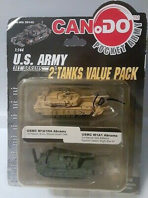 Can.Do 20041D M1A1//A2 Abrams 194th Bgde TF NTC 1//144 Scale Model /& Display Case