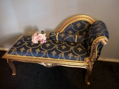 Antique Style Small Chaise Lounge,Window Seat