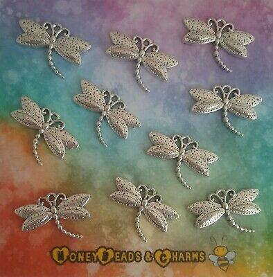 ❤ Filigree Butterfly Charms ❤ Antique Silver ❤ Pack of 10 ❤CRAFTING//JEWELLERY❤
