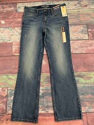 Cherokee Kids Bootcut Adjustable Waist Jeans Boys Size 16