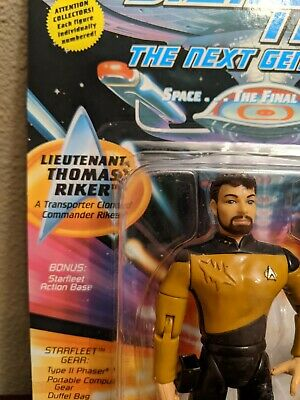 Playmates STAR TREK rare Thomas Riker on TNG card!