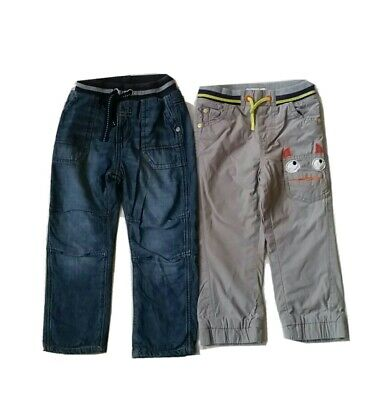 Boys grey/blue Jeans Bundle, *both are lined* 2-3 years