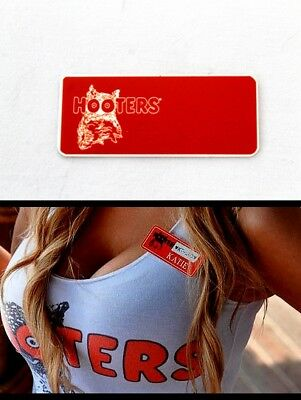 Kaitlyn Hooters Girl Uniform Name Tag Pin Halloween Costume Accessory *