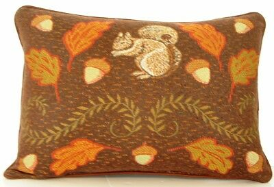 Fall// Autumn Colorful Assorted Leaves Acorns Plaid Border Tapestry Pillow New