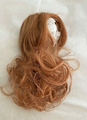 Real Human Hair Long Doll Wig With Bangs Red Authentic 29-31 Cm Germany