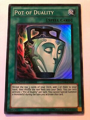 1-POT OF DUALITY-SUPER RARE-FIRST EDITION-SDHS-EN034 YUGIOH