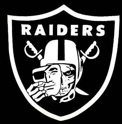 Oakland Raiders  Logo Vinyl Decal Large huge stickers