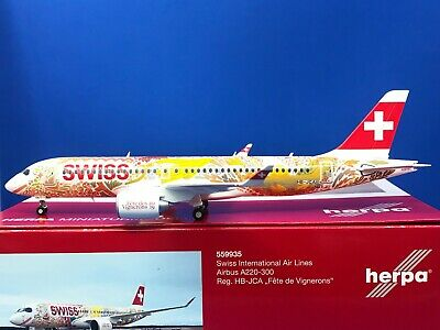 HERPA WINGS 1:400 Airbus a220-300 SWISS AIRLINES HB-JCA 562713 modellairport 500