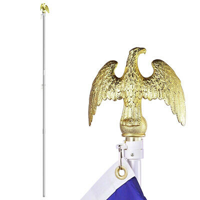 "6/"" tall Golden Eagle Flag Pole Topper Flagpole Ornament 7/"" wing span"