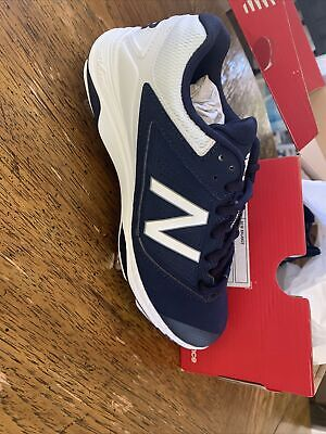 New Balance 4040v1 TPU Softball Cleat Womens Shoes Navy with White Size 7.5