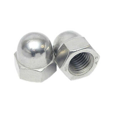 M3 TO M20 Dome Nuts To Fit Metric Bolts A2 Stainless Steel DIN1587