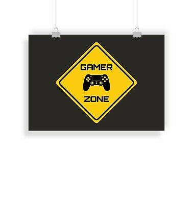 joystick controller gamer zone Canvas Wall Art Picture Print ~ VARIOUS SIZES
