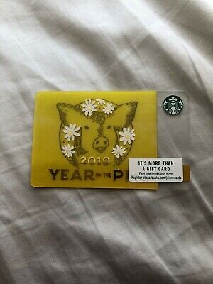 NEW RELOADABLE 2019 Year of the Pig Starbucks Gift Card ...