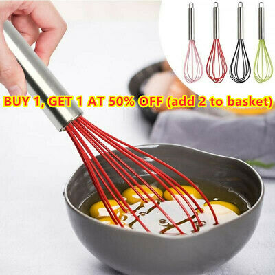 Handle Whisk Silicone Kitchen Mixer Balloon Wire Egg Beater Tools randjjCNAYHY