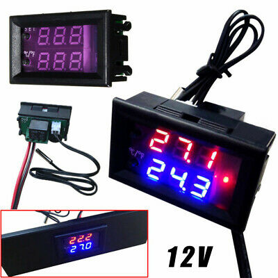 LED Digitale Dc 12V Microcomputer Termostato Controller-Switch Temperatura Sonda